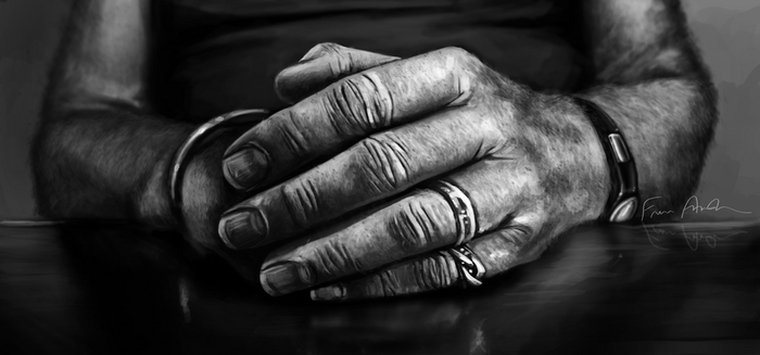 Grandpa's Hands by frene