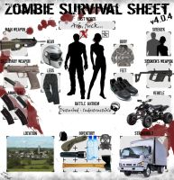 Zombie Survival Sheet by Ragedrako