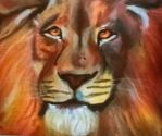 Lion painting by Clare205