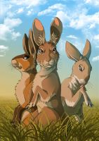 Watership Down - Hazel and friends by fiszike