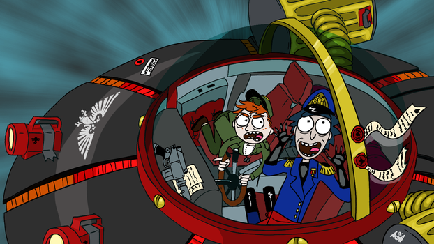 Rick and Morty - Warhammer 40K Commissar Mashup by Buttery-Commissar