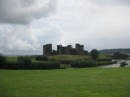 Caerphilly Castle by Hrivalasse-stock