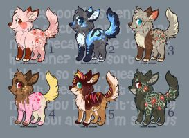 Adoptable Puppies 2 - CLOSED by Kennadee
