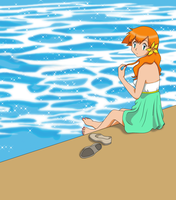 Misty looking back by HollyLu
