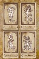 Tarot Cards 0 to III by Karla-Chan