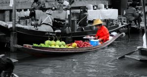 Floating market - Thailand by LoveJaa