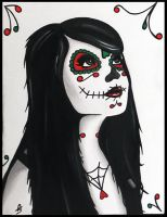 Joey, Day of The Dead Painting by Sophie-Adamson