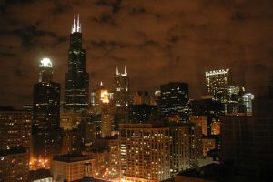 City Lights - Chicago by drChandra-IT