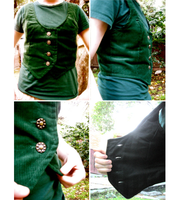 Little Green Vest by Rose-Bullets