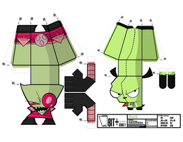 BIT+ Series 7 Saturday Mornings Zim and Gir by IdeatoPaperStudios