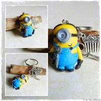 Minion Keychain Commission by oOMetalbrideOo