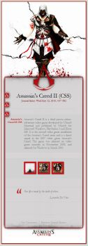 Assassin's Creed II CSS by bendenfield
