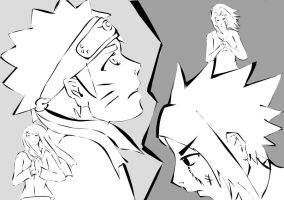 Naruto Lineart by stickypenguin