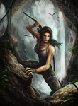 Lara Croft by Serathus