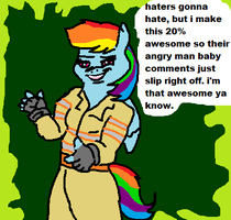 haters gonna hate awesome gonna awesome by TMNTFAN85