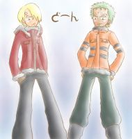 Badass Sanji and Zoro lol by Popcorni