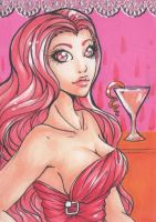 ACEO 131: 'Drink Me' - Cosmopolitan by Forunth