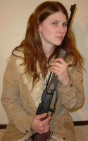 Jodi Portrait with BB Gun 1 by FantasyStock