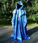 Royal Blue Satin Wizards Robe by DesignsbyLadyFaire