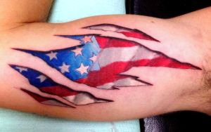 American Flag Tattoo by BodyArtbyElf