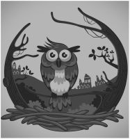 owl HomeTown by andreasardy