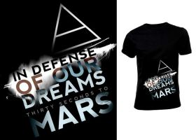 MARS t-shirt design by firexatxwill