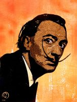 Salvador Dali by TomoArt1