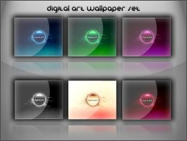 Digital Art Wallpaper Set by nonlin3