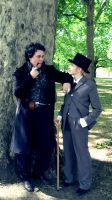 Old friends Holmes and Watson by joeywaii