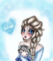 elsa and her jack:3 by NENEBUBBLEELOVER