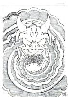 Whirlwind hannya -sketch2- by dfmurcia