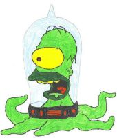 Alien Homer - Gamedino by simpsons-club