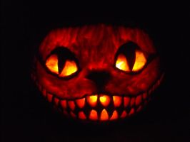 cheshire cat pumpkin by Skarlet-kitten