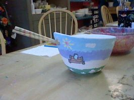 Rice bowl painted by GrayComputer
