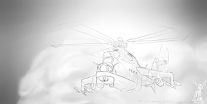 MI-24 Military Helicopter by oonami