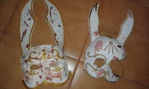 Bioshock Splicer mask before/after by Nyan-Sally
