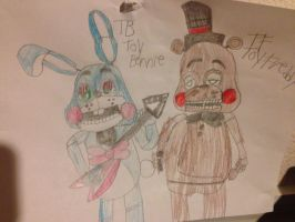 Gift: Toy Freddy And Toy Bonnie The BFFs by AlyssaFazbear