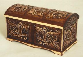carved wooden box by EdwardWoodART