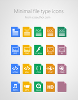 Beautiful Minimal File Type Icons PSD for Free by cssauthor