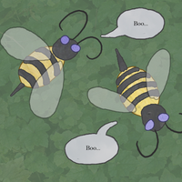 A pair of Boo-Bees by Ulario