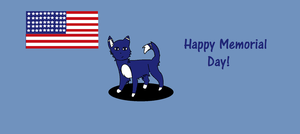 Memorial day cat by Warriors1333
