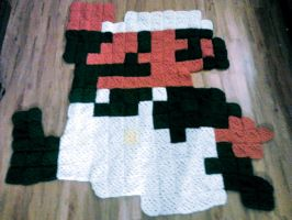 Luigi Pixel Blanket - SOLD by RosalieBriar