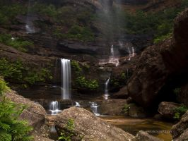 Half Way Down- Wentworth Falls by FireflyPhotosAust