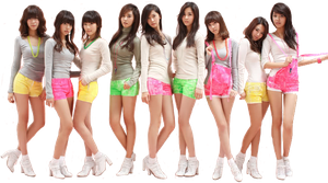 SNSD Gee PNG by NyappyGirl99
