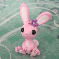 Pink Bunny by DragonsAndBeasties