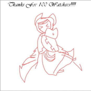 Thanks for 100 Watchers! by Rawrmouse