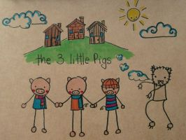 The 3 little pigs by Pinkie-Perfect