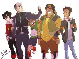 Voltron Team by wikigiuli