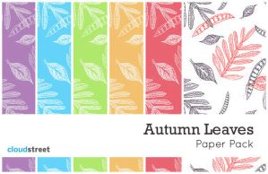 Autumn Leaves Paper Pack by cloudstreetlab