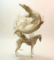 Greyhound Crocodilian - Lethal White series - OOAK by creaturesfromel